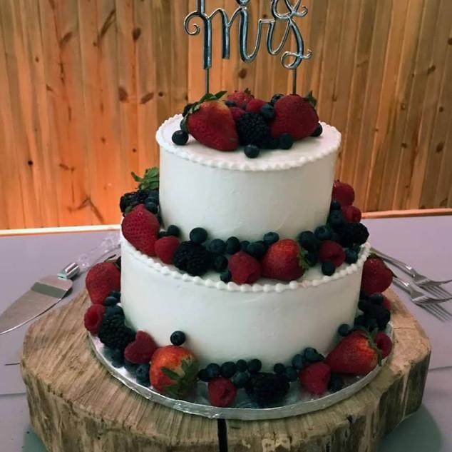 simple berry cake -