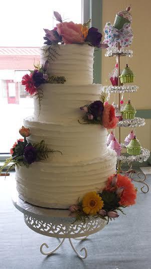 rudtic flower cake -
