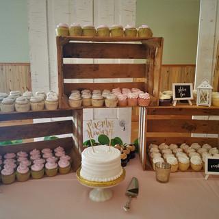 cupcake wedding cake.