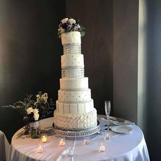 Crystal wedding cake
