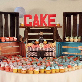 cupcake wedding.