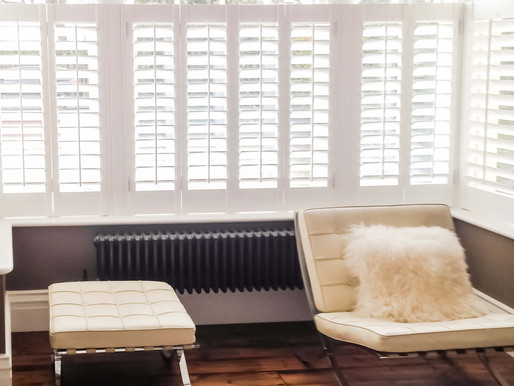 Interior Shutters-the most versatile Home Office Window Treatment.