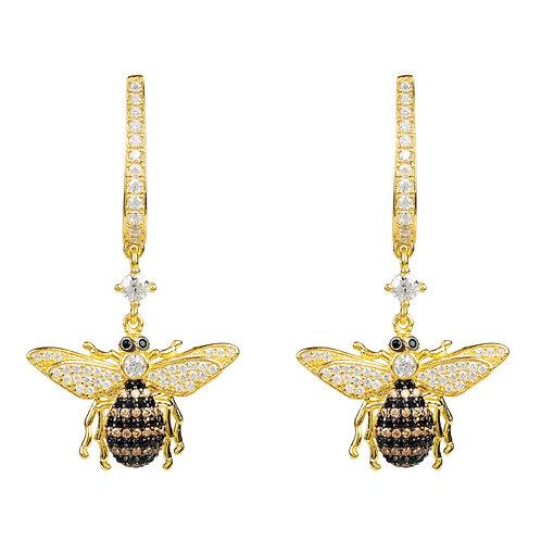 Honey Bee Drop Earring Gold