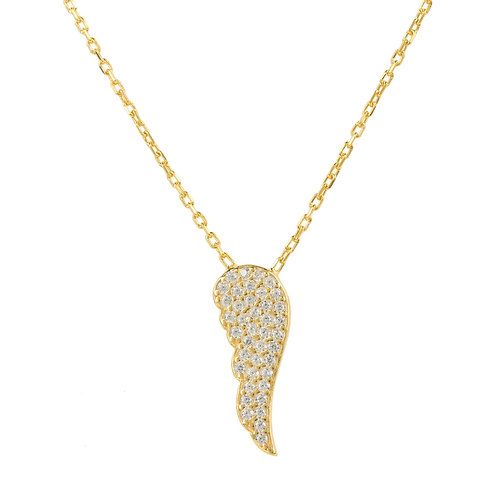 Angel Wing Small Pendant Necklace