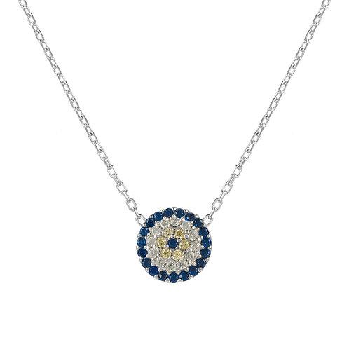 Evil Eye Necklace Silver