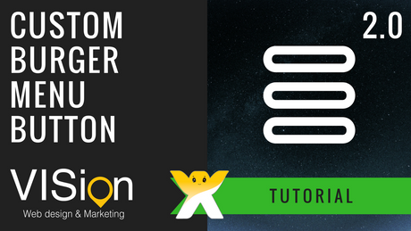 How to create a burger menu button using WIX buttons