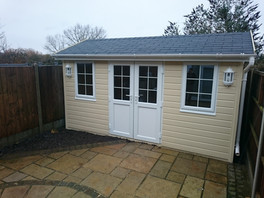 Garden Studio 2.4 m x 4.2m, Garden Office, Summer House PVC Option