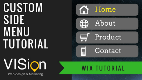 How to create Side Menu on WIX editor with Lightbox