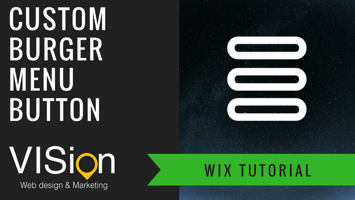 How to create a burger menu button on WIX