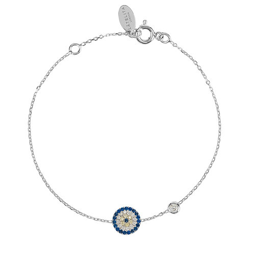 Evil Eye Bracelet Silver