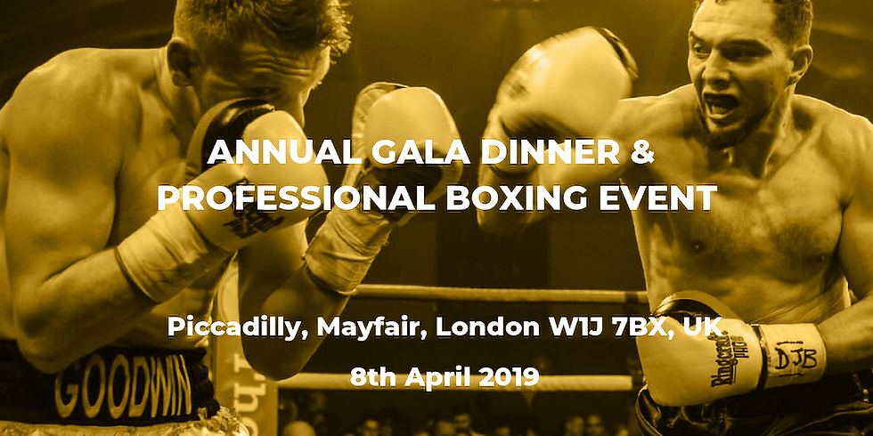 Annual Gala Dinner & Professional Boxing Event