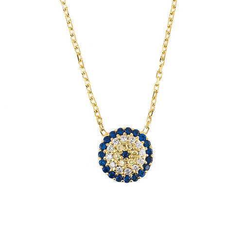 Evil Eye Necklace Gold
