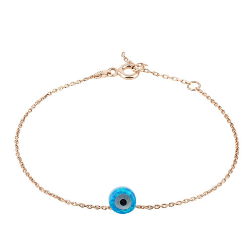 Evil Eye Mini Opalite Bracelet Rosegold