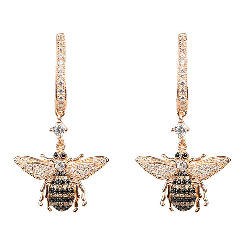 Honey Bee Drop Earring Rosegold