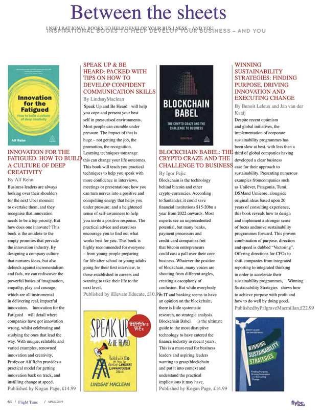The Editors pick' for Flybe's internal magazine