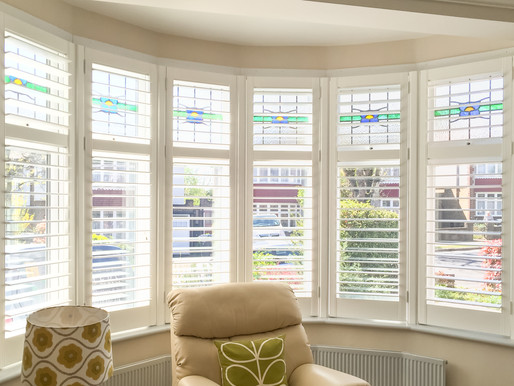 Enhance your Bay Windows with Plantation Shutters.