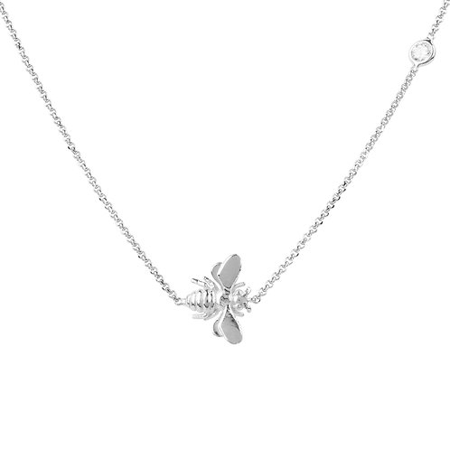 Queen Bee Necklace Silver