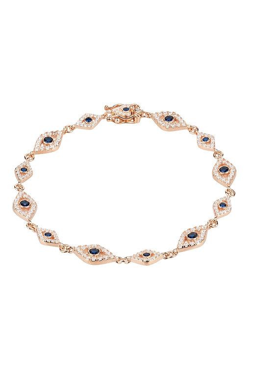 Eye Sparkling Tennis Bracelet Rosegold