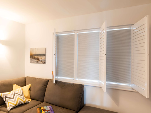 Plantation Shutters with Blinds.