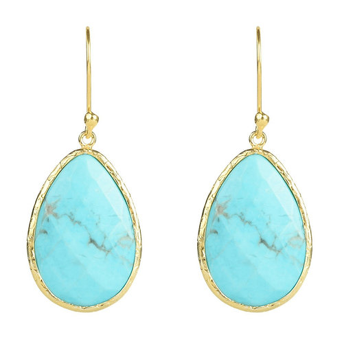 Single Drop Earring Turquoise Gold