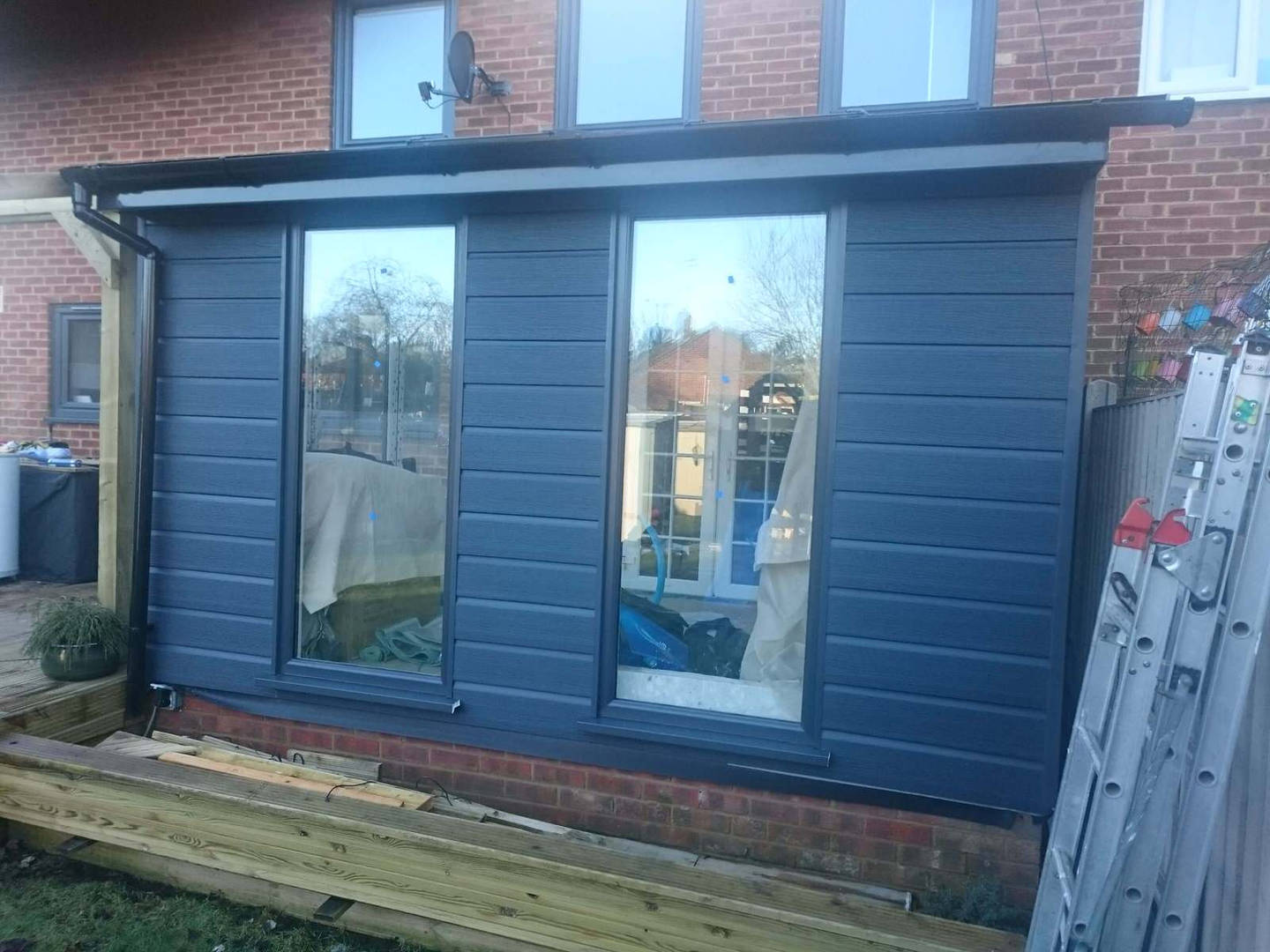 Lean to house extension Hampshire