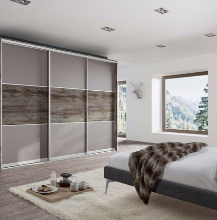 Sliding Wardrobe Doors - Woodgrain