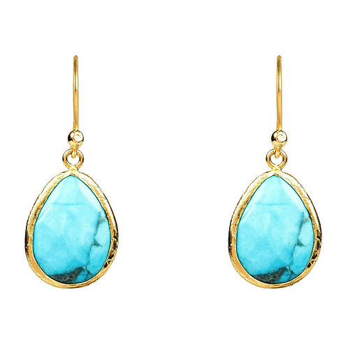 Petite Drop Earring Turquoise Gold