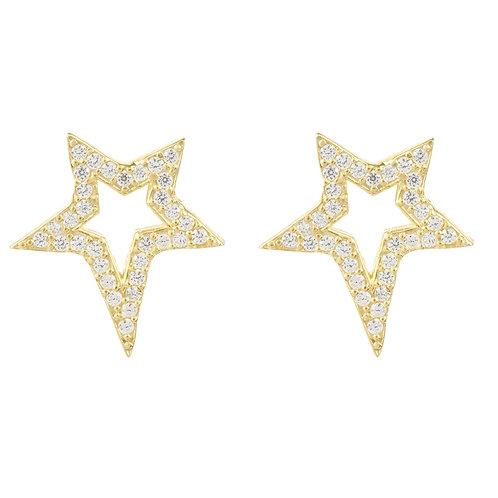 Open Star Stud Earring