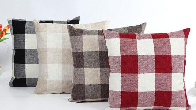 Buffalo Plaid Cushion Bed Pillows Cover