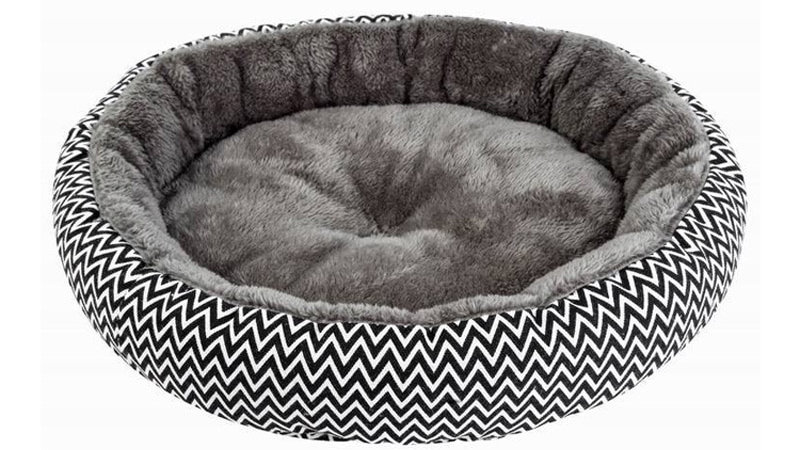 Pawstrip Soft Plush small Dog Bed Round Cat Bed Warm Puppy Cushion