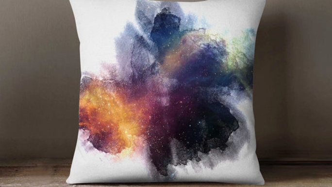 Space Inkblot Universe Pillowcase | Decorative