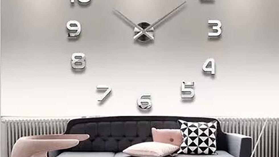 3d Luminous Real Big Wall Clock Rushed Mirror Sticker