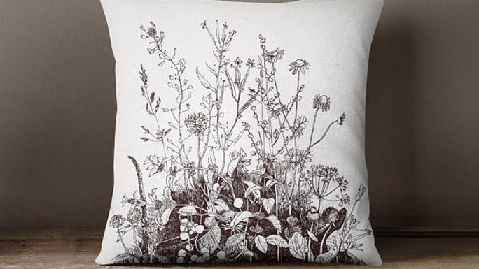 Floral Decorative Throw Pillow Cover Decorative
