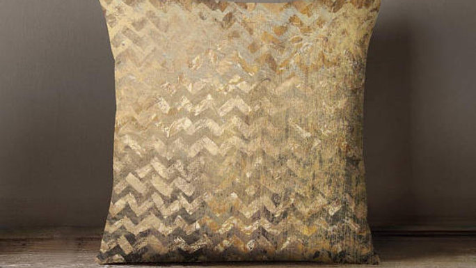 Gold Pattern Throw Pillow Cover Decorative Pillow
