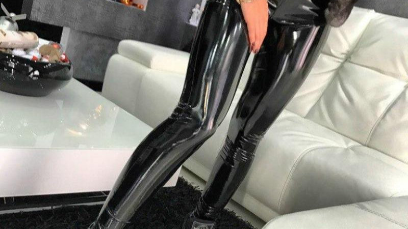 NORMOV Leather Black Leggings High Waist Women Sexy Elastic Skinny