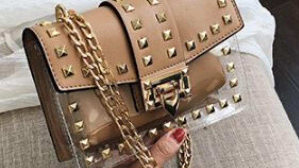 Betty Shoulder Bag -Clear/Tan