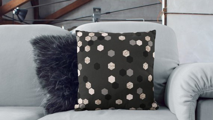 Sequin Pillow Sequin Print Pillow Print Sofa