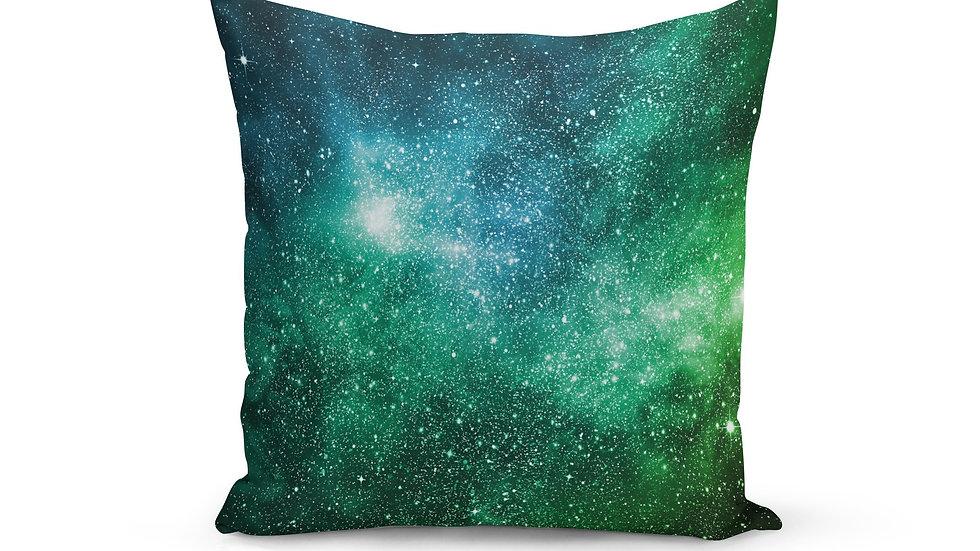 Blue Green Galaxy Pillow Cover