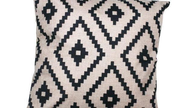 Zipper Diamond Geometric Drawing Pillow Cover Case