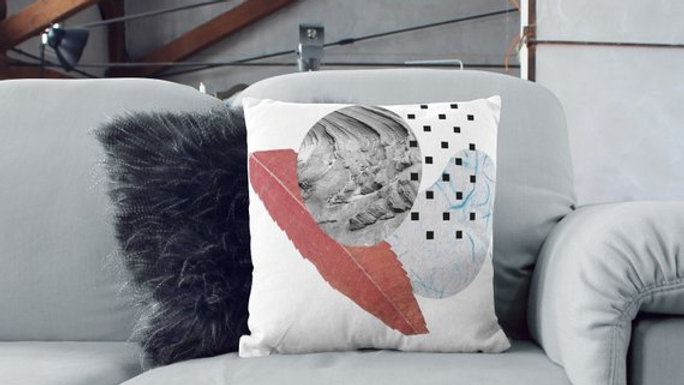 Collage Design Sofa Pillows Decorative Cushion