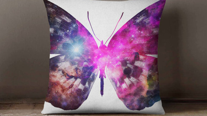 Cosmic Butterfly Universe Space Galaxy Pillowcase
