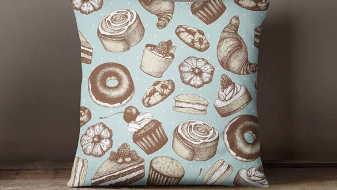 Cupcakes, Donuts, Sweets Pillowcase | Decorative