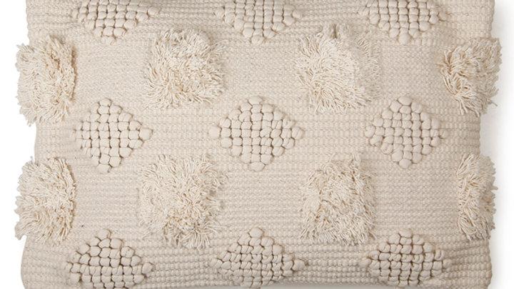Diagonal Chindi  Cushion - 16 x 24 Inches