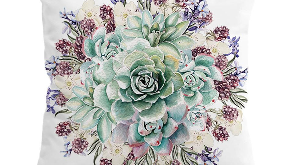 Succulents Cushion Cover Pillow Case Floral Throw