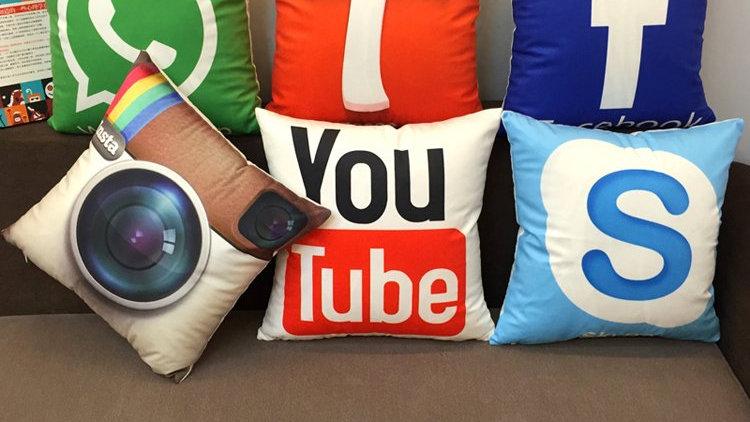 Social Logo Pillow