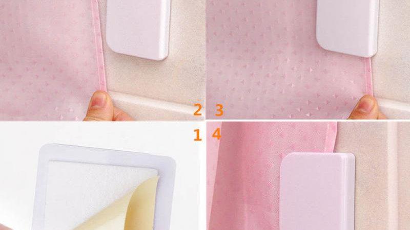 2pcs Shower Curtain Clips Anti Splash Spill Stop Water Leaking Guard Bathroom