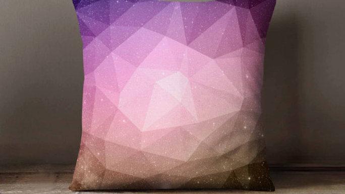 Geometric Galaxy Space Pillowcase | Decorative