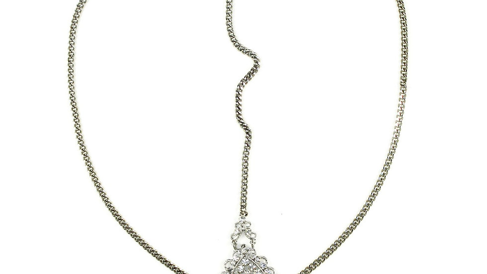 Crusted Medallion Chain Headpiece