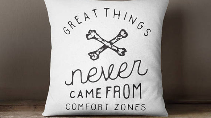 Comfort Zone Throw Pillow Cover Pillow Case