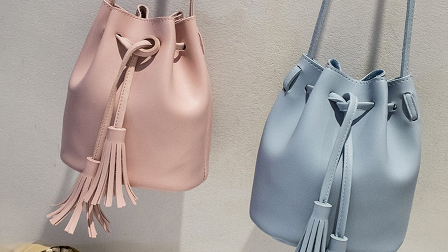 Vintage Tassel Crossbody Bucket Bag Luxury Sac